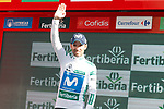 Alejandro Valvede (ESP) Movistar Team retains the Combined Jersey at the end of Stage 17 of the La Vuelta 2018, running 186.1km from Ejea de los Caballeros to Lleida, Spain. 13th September 2018.                   <br /> Picture: Unipublic/Photogomezsport | Cyclefile<br /> <br /> <br /> All photos usage must carry mandatory copyright credit (&copy; Cyclefile | Unipublic/Photogomezsport)