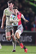3rd December 2017, Twickenham Stoop, London, England; Aviva Premiership rugby, Harlequins versus Saracens; Danny Care of Harlequins takes a quick tap penalty and breaks for the line