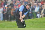 Ryder Cup 206 K Club, Straffan, Ireland..American Ryder Cup team player Phil Mickelson chips from the edge of the 9th green during the morning fourballs session of the second day of the 2006 Ryder Cup at the K Club in Straffan, Co Kildare, in the Republic of Ireland, 23 September 2006...Photo: Eoin Clarke/ Newsfile.