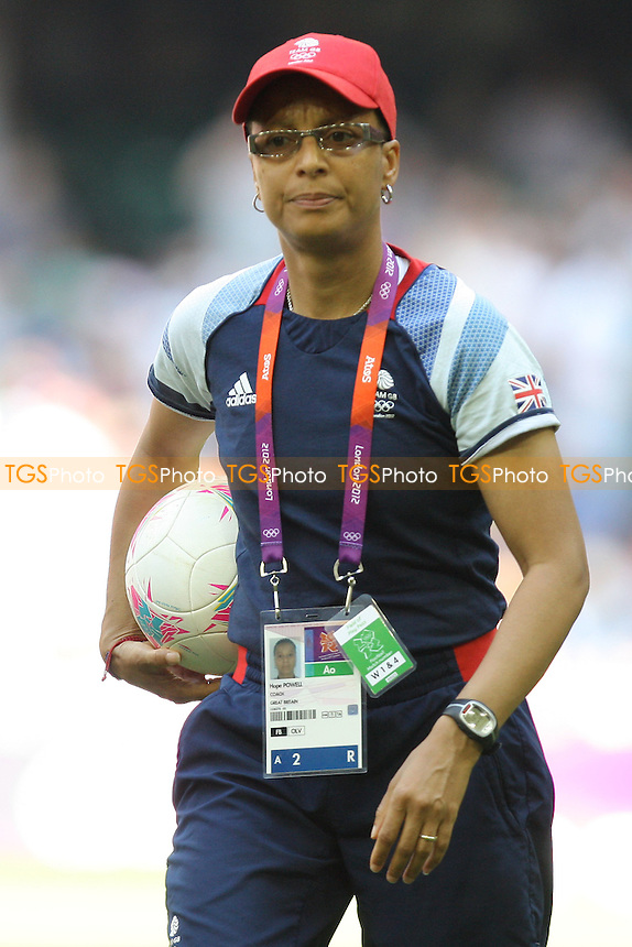 GB Coach Hope Powell - Great Britain Women vs New Zealand Women - Womens Olympic Football Tournament London 2012 Group E at the Millenium Stadium, Cardiff, Wales - 25/07/12 - MANDATORY CREDIT: Gavin Ellis/SHEKICKS/TGSPHOTO - Self billing applies where appropriate - 0845 094 6026 - contact@tgsphoto.co.uk - NO UNPAID USE.