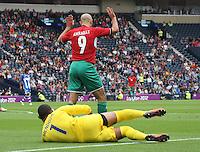 Men's Olympic Football match Honduras v Morocco on 26.7.12...During the Honduras v Morocco Men's Olympic Football match at Hampden Park, Glasgow.................