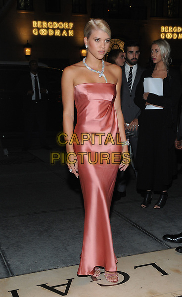 NEW YORK, NY - OCTOBER 19: Sofia Richie attends the re-opening of the  Bulgari flagship store on Fifth Avenue in New York City on October 20, 2017. <br /> CAP/MPI/JP<br /> &copy;JP/MPI/Capital Pictures