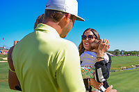 Kevin Chappell (USA) is joined by his wife, Elizabeth and daughter Collins after winning the 2017 Valero Texas Open, AT&amp;T Oaks Course, TPC San Antonio, San Antonio, Texas, USA. 4/23/2017.<br /> Picture: Golffile | Ken Murray<br /> <br /> <br /> All photo usage must carry mandatory copyright credit (&copy; Golffile | Ken Murray)