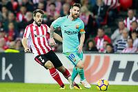Athletic de Bilbao's Benat Etxebarria (l) and FC Barcelona's Leo Messi during La Liga match. October 28,2017. (ALTERPHOTOS/Acero) /NortePhoto.com