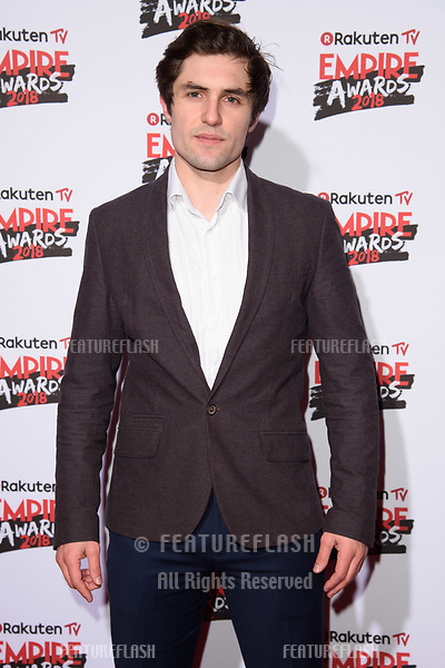 Phil Dunster arriving for the Empire Awards 2018 at the Roundhouse, Camden, London, UK. <br /> 18 March  2018<br /> Picture: Steve Vas/Featureflash/SilverHub 0208 004 5359 sales@silverhubmedia.com