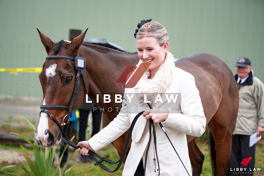 Danielle Wheeler with One Cool Dude during the Bates CCI2* Championship 1st Horse Inspection at the 2017 NZL-NRM National Three Day Event Championships. National Equestrian Center, Taupo. Thursday 11 May. Copyright Photo: Libby Law Photography