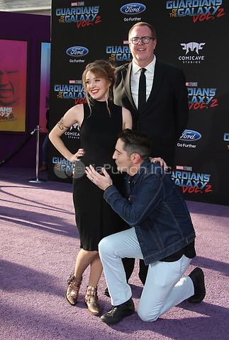"HOLLYWOOD, CA - April 19: David Dastmalchian, Evelyn Leigh, Steve Agee, At Premiere Of Disney And Marvel's ""Guardians Of The Galaxy Vol. 2"" At The Dolby Theatre  In California on April 19, 2017. Credit: FS/MediaPunch"