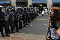 Toronto G 20 Protest Police Line Police Presence G 20 Protest Front Line g20 protesters girl protester