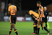 3rd October 2017, The Abbey Stadium, Cambridge, England; Football League Trophy Group stage, Cambridge United versus Southampton U21; Dejected Cambridge United players consider the 0-1 defeat