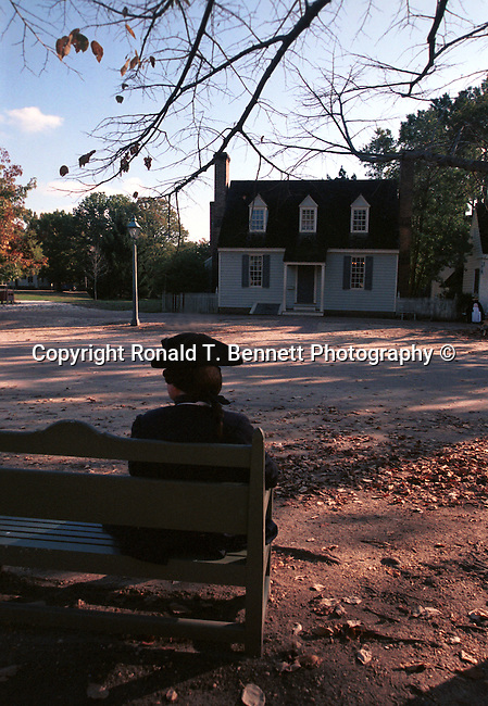 George Washington sit on bench Colonial Williamsburg Virginia, Fine Art Photography by Ron Bennett, Fine Art, Fine Art photography, Art Photography, Copyright RonBennettPhotography.com ©