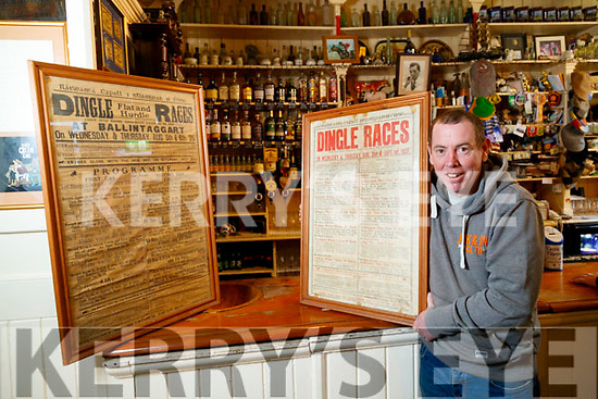 Ronan Kennedy, Currans bar Dingle with posters from the Dingle Races 1925 and 1927.