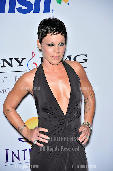 Pink at music mogul Clive Davis' annual pre-Grammy party at the Beverly Hilton Hotel..February 9, 2008  Los Angeles, CA.Picture: Paul Smith / Featureflash