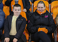 Blackpool fans prepare for the second half to get underway<br /> <br /> Photographer Alex Dodd/CameraSport<br /> <br /> The EFL Sky Bet League Two - Blackpool v Stevenage - Tuesday 14th March 2017 - Bloomfield Road - Blackpool<br /> <br /> World Copyright &copy; 2017 CameraSport. All rights reserved. 43 Linden Ave. Countesthorpe. Leicester. England. LE8 5PG - Tel: +44 (0) 116 277 4147 - admin@camerasport.com - www.camerasport.com
