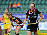 The Hague, Netherlands, June 05: Anne-Sophie De Scheemaekere #2 of Belgium during the field hockey group match (Women - Group A) between Belgium and Australia on June 5, 2014 during the World Cup 2014 at Kyocera Stadium in The Hague, Netherlands. Final score 2:3 (1:1) (Photo by Dirk Markgraf / www.265-images.com) *** Local caption ***