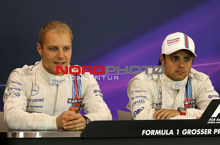 Valtteri Bottas (FIN), Williams F1 Team - Felipe Massa (BRA), Williams GP<br /> for the complete Middle East, Austria &amp; Germany Media usage only!<br />  Foto &copy; nph / Mathis