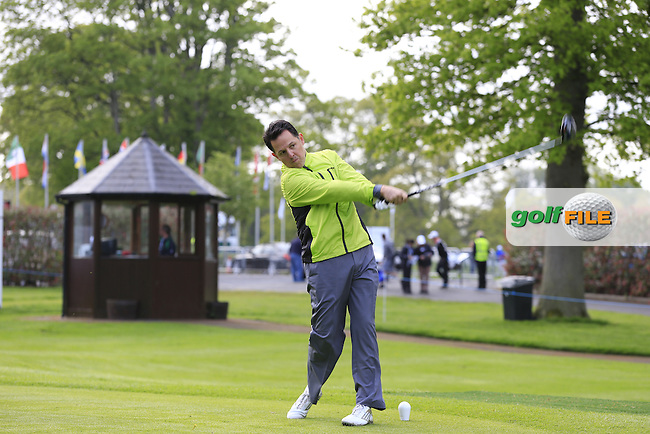 Lucas Bjerregaard (SWE) team in action during Wednesday's Pro-Am of the 2016 Dubai Duty Free Irish Open hosted by Rory Foundation held at the K Club, Straffan, Co.Kildare, Ireland. 18th May 2016.<br /> Picture: Eoin Clarke | Golffile<br /> <br /> <br /> All photos usage must carry mandatory copyright credit (&copy; Golffile | Eoin Clarke)