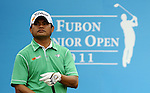 TAIPEI, TAIWAN - NOVEMBER 19:  Frankie Minoza of Philippines tees off on the 1st hole during day two of the Fubon Senior Open at Miramar Golf & Country Club on November 19, 2011 in Taipei, Taiwan. Photo by Victor Fraile / The Power of Sport Images