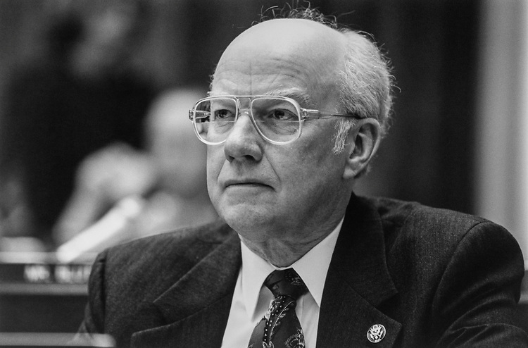 Rep. Vern Ehlers, R-Mich., in April 1994. (Photo by Laura Patterson/CQ Roll Call via Getty Images)