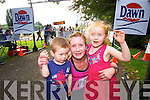 Mary T Cooper (Milltown, Killarney) pictured with her children, Grace Cooper (4) and Mikey Cooper  (2). who took part in the Killarney Women's Mini Marathon on Saturday last.