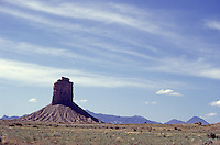 Chimney Rock or Jackson Butte at entrance to Ute Mountain Tribal Park, Colorado, U.S.A.