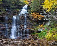 Ricketts Glen State Park, PA: Ganoga Falls on Kitchen Creek in autumn