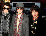 Jonas Brothers: Kevin Jonas &amp; Joe Jonas &amp; Nick Jonas<br /> appearing in the 2007 Macy's Thanksgiving Day Parade, New York City.<br /> November 22, 2007