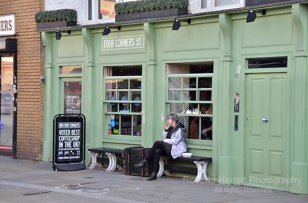 Four Corners Cafe in Lower Marsh SE1, Waterloo, London, UK.