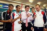 Pix: Shaun Flannery/shaunflanneryphotography.com...COPYRIGHT PICTURE>>SHAUN FLANNERY>01302-570814>>07778315553>>..20th July 2010.......GB Boxing, The English Institute of Sport, Sheffield (EIS Sheffield)..Visit of the Sports Minister Hugh Robertson..Pictured L-R Gamal Yafai, Khalid Yafai, Andrew Selby, Iain Weaver.