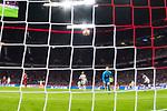 13.03.2019, Allianz Arena, Muenchen, GER, UEFA CL, FC Bayern Muenchen (GER) vs FC Liverpool (GBR) ,Achtelfinale, UEFA regulations prohibit any use of photographs as image sequences and/or quasi-video, im Bild Tor zum 1-0 durch Sadio Mane (Liverpool #10)  mit Manuel Neuer (FCB #1) Aufgenommen mit der Hintertor Remote Kamera <br /> <br /> Foto © nordphoto / Straubmeier