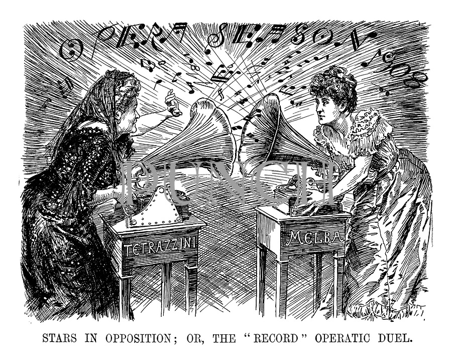"Stars in Opposition; Or, The ""Record"" Operatic Duel."