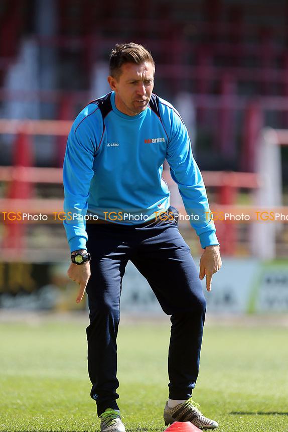 Coach Darren Currie before Wrexham vs Dagenham & Redbridge, Vanarama National League Football at the Glyndwr University Racecourse Stadium on 22nd April 2017