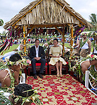 """CATHERINE, DUCHESS OF CAMBRIDGE AND PRINCE WILLIAM.are carried shoulder high on chairs on arrival at Funafuti Airport at the start of 2-day tour of Tuvalu_18/09/2012.Mandatory credit photo: ©DIASIMAGES/NEWSPIX INTERNATIONAL..(Failure to credit will incur a surcharge of 100% of reproduction fees)..                **ALL FEES PAYABLE TO: """"NEWSPIX INTERNATIONAL""""**..IMMEDIATE CONFIRMATION OF USAGE REQUIRED:.DiasImages, 31a Chinnery Hill, Bishop's Stortford, ENGLAND CM23 3PS.Tel:+441279 324672  ; Fax: +441279656877.Mobile:  07775681153.e-mail: info@newspixinternational.co.uk"""
