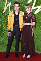 Charlie Heaton and Natalia Dyer<br /> arriving for The Fashion Awards 2017 at the Royal Albert Hall, London<br /> <br /> <br /> &copy;Ash Knotek  D3356  04/12/2017