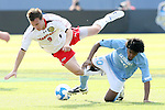 14 December 2008: Maryland's Jason Herrick (9) and UNC's Sheanon Williams (20). The University of Maryland Terrapins defeated the University of North Carolina Tar Heels 1-0 at Pizza Hut Park in Frisco, TX in the championship game of the 2008 NCAA Division I Men's College Cup.