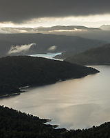 Sunset over Lake Waikaremoana, Te Urewera, Hawke's Bay, North Island, New Zealand, NZ