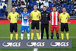 League Santander 2017-2018 - Game: 15.<br /> RCD Espanyol vs Girona FC: 0-1.<br /> Los capitanes Victor Sanchez &amp; Alex Granell con el equipo arbitral.