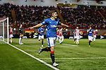Declan John scores goal no 2 for Rangers and celebrates