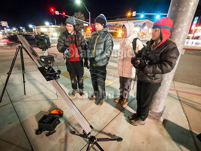 Night time-lapse photography class with Grant Kaye, downtown Winnemucca, Shooting the West XXVII, Winnemucca, Nev.