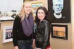 Emma Goodwin and Emily Cox at the Art Exhibition in Scoil Aonghusa..(Photo credit should read Jenny Matthews www.newsfile.ie)....This Picture has been sent you under the conditions enclosed by:.Newsfile Ltd..The Studio,.Millmount Abbey,.Drogheda,.Co Meath..Ireland..Tel: +353(0)41-9871240.Fax: +353(0)41-9871260.GSM: +353(0)86-2500958.email: pictures@newsfile.ie.www.newsfile.ie.