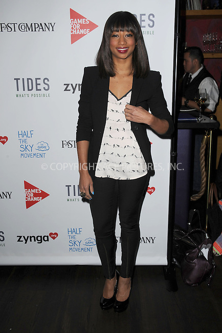 WWW.ACEPIXS.COM . . . . . .March 4, 2013...New York City....Monique Coleman attends the Half the Sky Movement: The Game Launch at No. 8 on March 4, 2013 in New York City. ....Please byline: KRISTIN CALLAHAN - WWW.ACEPIXS.COM.. . . . . . ..Ace Pictures, Inc: ..tel: (212) 243 8787 or (646) 769 0430..e-mail: info@acepixs.com..web: http://www.acepixs.com .