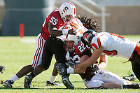 18 November 2006: Michael Okwo and Bo McNally during Stanford's 30-7 loss to Oregon State at Stanford Stadium in Stanford, CA.