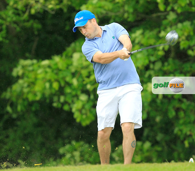 John Healy (Delvin Castle) on the 14th tee during Round 2 of the Irish Mid-Amateur Open Championship at New Forest on Saturday 20th June 2015.<br /> Picture:  Thos Caffrey / www.golffile.ie