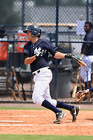 GCL Yankees 1 first baseman Dalton Smith (86) at bat during the second game of a doubleheader against the GCL Braves on July 1, 2014 at the Yankees Minor League Complex in Tampa, Florida.  GCL Braves defeated the GCL Yankees 1 by a score of 3-1.  (Mike Janes/Four Seam Images)