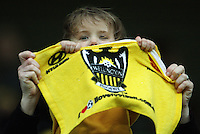 A young Phoenix fan during the A-League football match between Wellington Phoenix and Perth Glory at Westpac Stadium, Wellington, New Zealand on Sunday, 16 August 2009. Photo: Dave Lintott / lintottphoto.co.nz