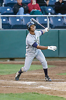 July 16, 2008:  Jeudy Valdez of the Eugene Emeralds at-bat during a Northwest League game against the Everett AquaSox at Everett Memorial Stadium in Everett, Washington.