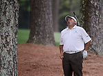 AUGUSTA, GA -  APRIL 14:  Angel Cabrera of Argentina reacts to a approach shot on the 13th green during the fourth round of the 2013 Masters Tournament  held in Augusta, GA at Augusta National Golf Club on Sunday, April 14, 2013. Cabrera was leading going into the final hole, where Adam Scott of Australia forced a playoff, which he eventually won. Adam Scott became the first Australian ever to win the famed Masters Golf Tournament , one of the four major championships, in it's 79 year history.