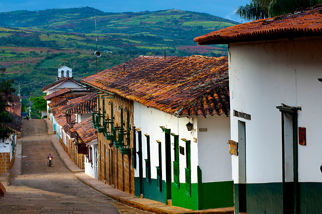 Adobe Houses Pattern The Mountainous Streets Of Barichara
