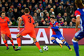 31st October 2017, St Jakob-Park, Basel, Switzerland; UEFA Champions League, FC Basel versus CSKA Moscow; Taulant Xhaka of FC Basel runs with the ball
