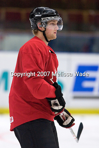 NAME took part in Team Canada's morning skate on Friday, January 5, 2007 prior to meeting Russia in the 2007 World Championship gold medal game at Ejendals Arena in Leksand, Sweden.