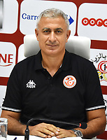 Mondher Kbaier, newly-appointed coach of the Tunisian national football team, arrives at the Tunisian Football Federation (FTF) headquarters in the capital Tunis on August 29, 2019. - Kbaier has been appointed coach of the Tunisian team in replacement of resigned French coach Alain Giresse. According to a statement issued by the Tunisian Federation (FTF), the new coach of the Carthage Eagles had signed a renewable three-year contractPHOTO : Agence Quebec Presse - JDIDI_WASSIM